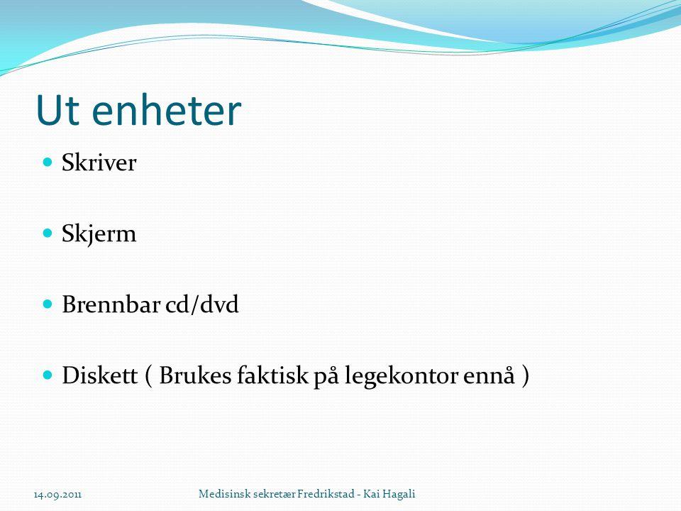Ut enheter Skriver Skjerm Brennbar cd/dvd
