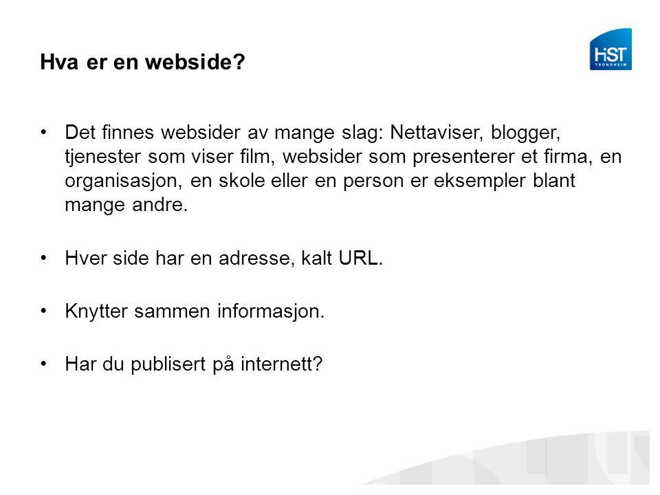Hva er en webside
