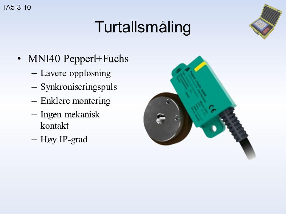 Turtallsmåling MNI40 Pepperl+Fuchs Lavere oppløsning