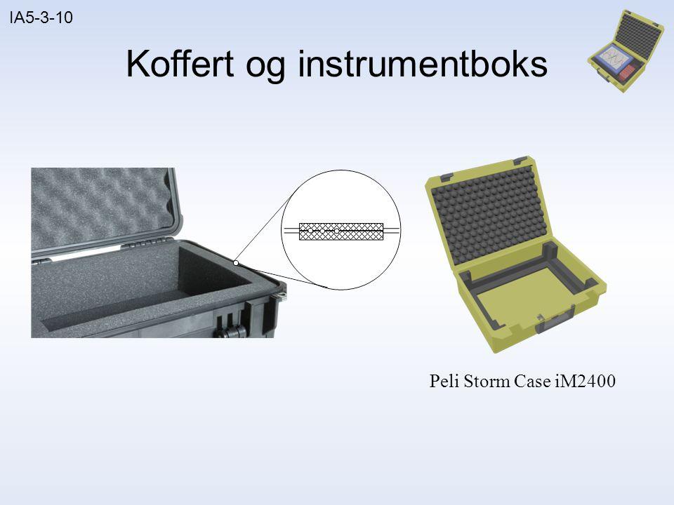 Koffert og instrumentboks