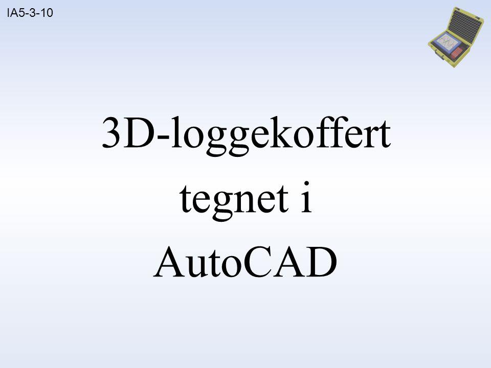 3D-loggekoffert tegnet i AutoCAD