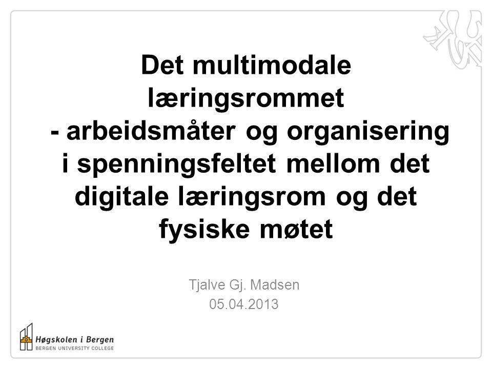 Det multimodale læringsrommet - arbeidsmåter og organisering i spenningsfeltet mellom det digitale læringsrom og det fysiske møtet