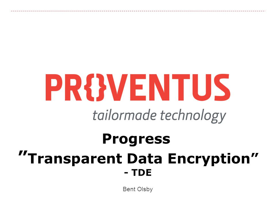 Progress Transparent Data Encryption
