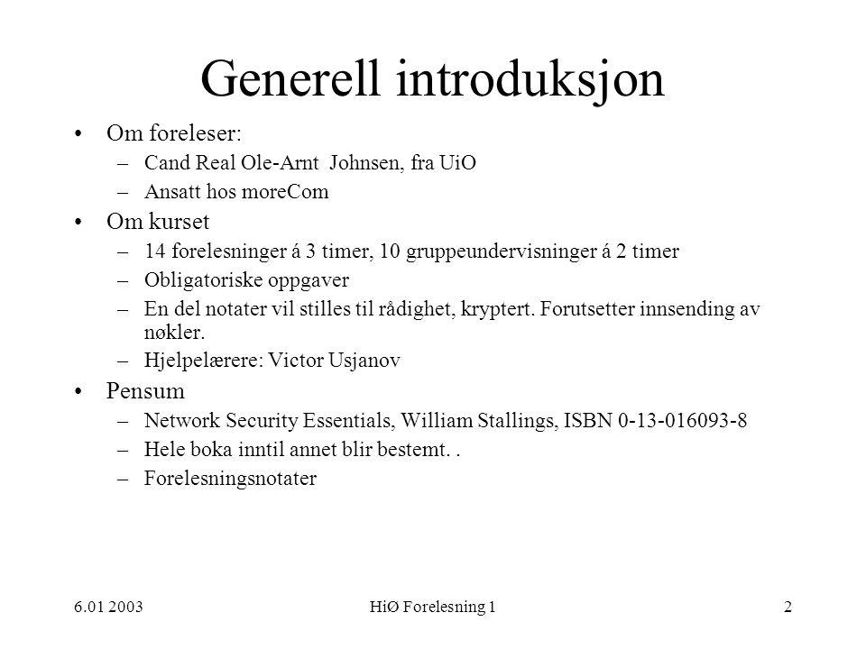 Generell introduksjon