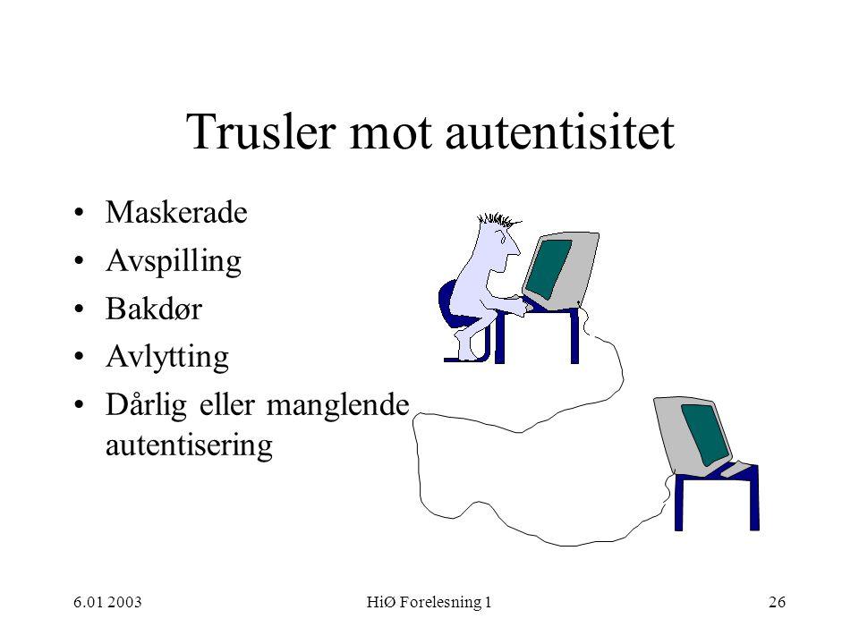 Trusler mot autentisitet