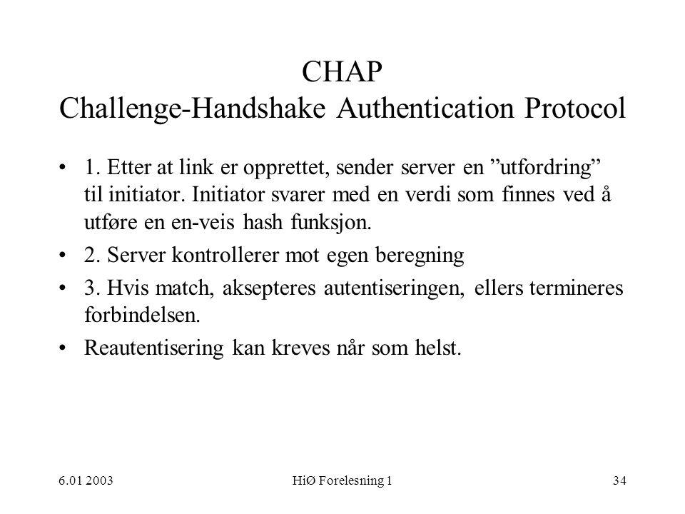 CHAP Challenge-Handshake Authentication Protocol