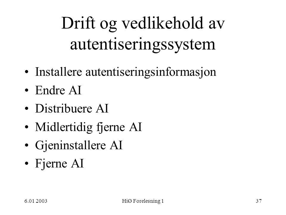 Drift og vedlikehold av autentiseringssystem