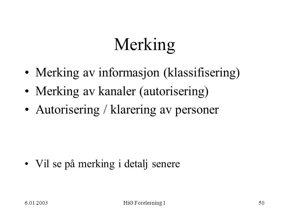 Merking Merking av informasjon (klassifisering)
