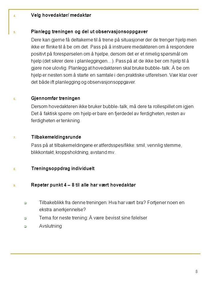 Velg hovedaktør/ medaktør