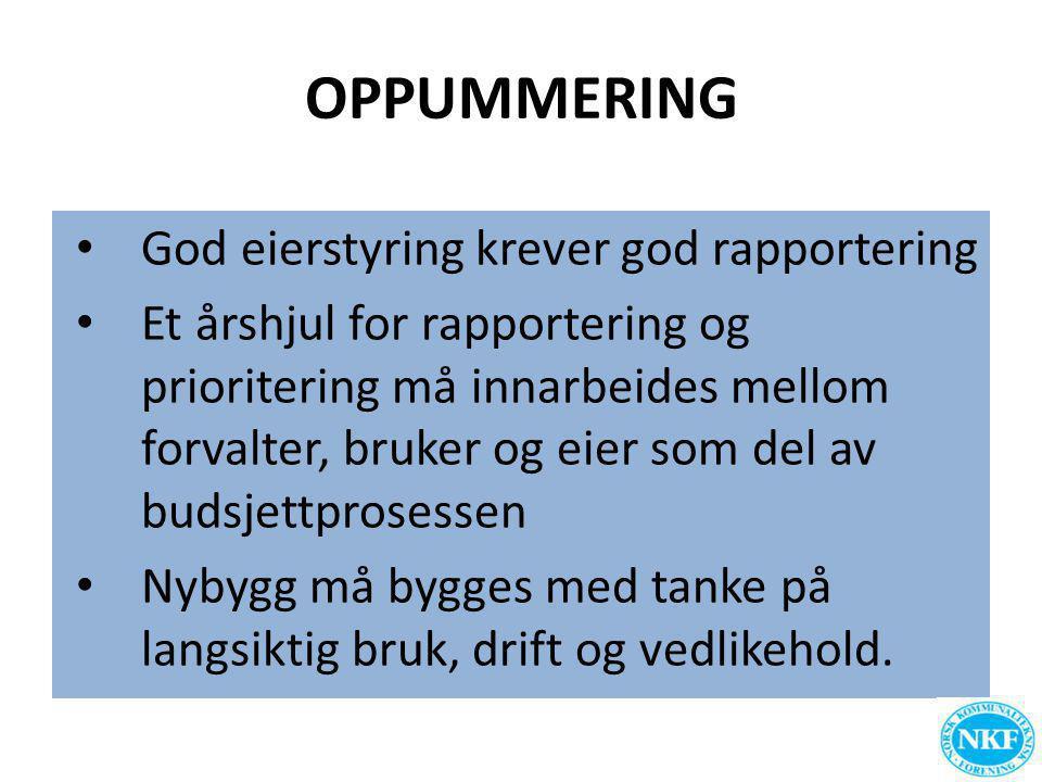 OPPUMMERING God eierstyring krever god rapportering