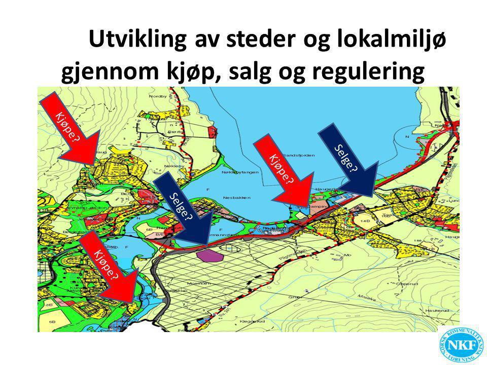Utvikling av steder og lokalmiljø gjennom kjøp, salg og regulering