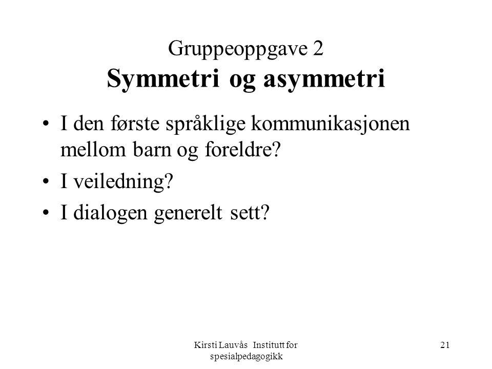 Gruppeoppgave 2 Symmetri og asymmetri