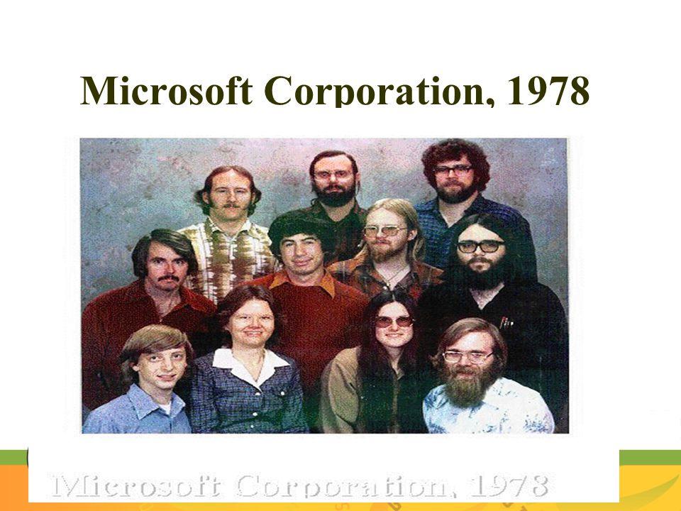 Microsoft Corporation, 1978
