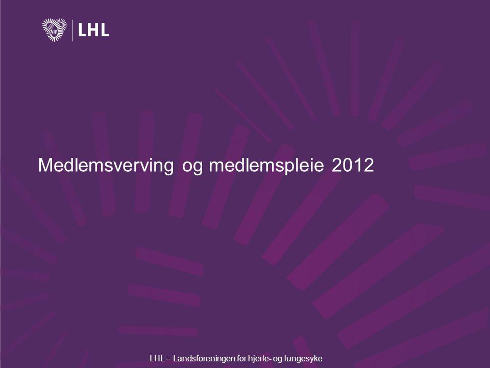 Medlemsverving og medlemspleie 2012