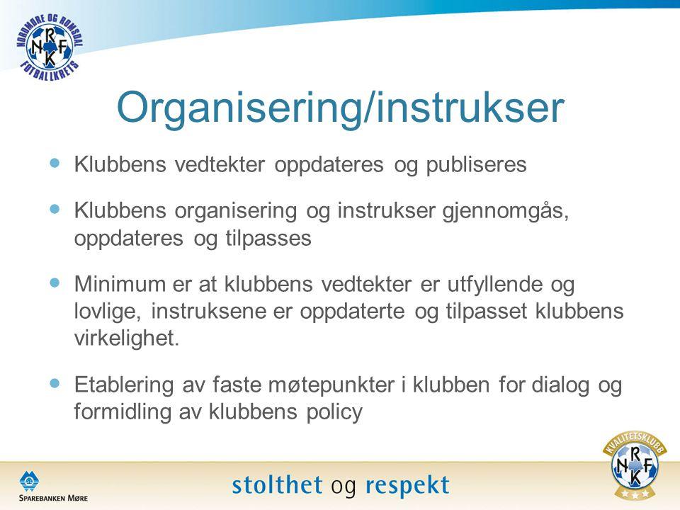 Organisering/instrukser
