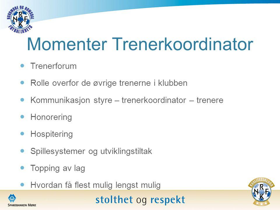 Momenter Trenerkoordinator