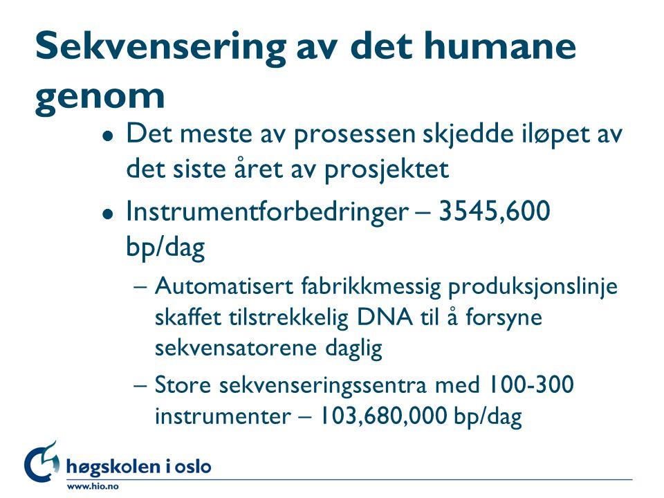 Sekvensering av det humane genom