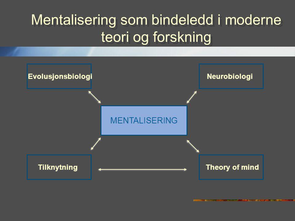 Mentalisering som bindeledd i moderne teori og forskning