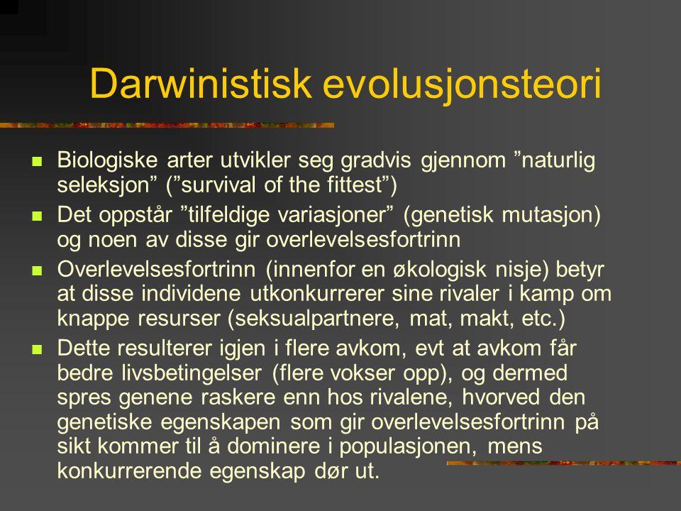 Darwinistisk evolusjonsteori