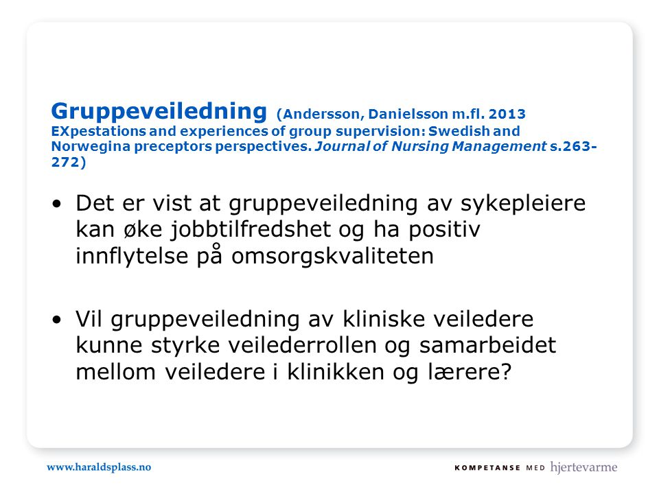 Gruppeveiledning (Andersson, Danielsson m. fl