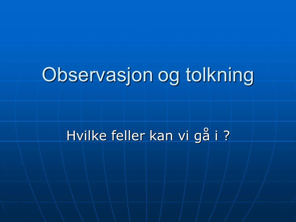 Observasjon og tolkning