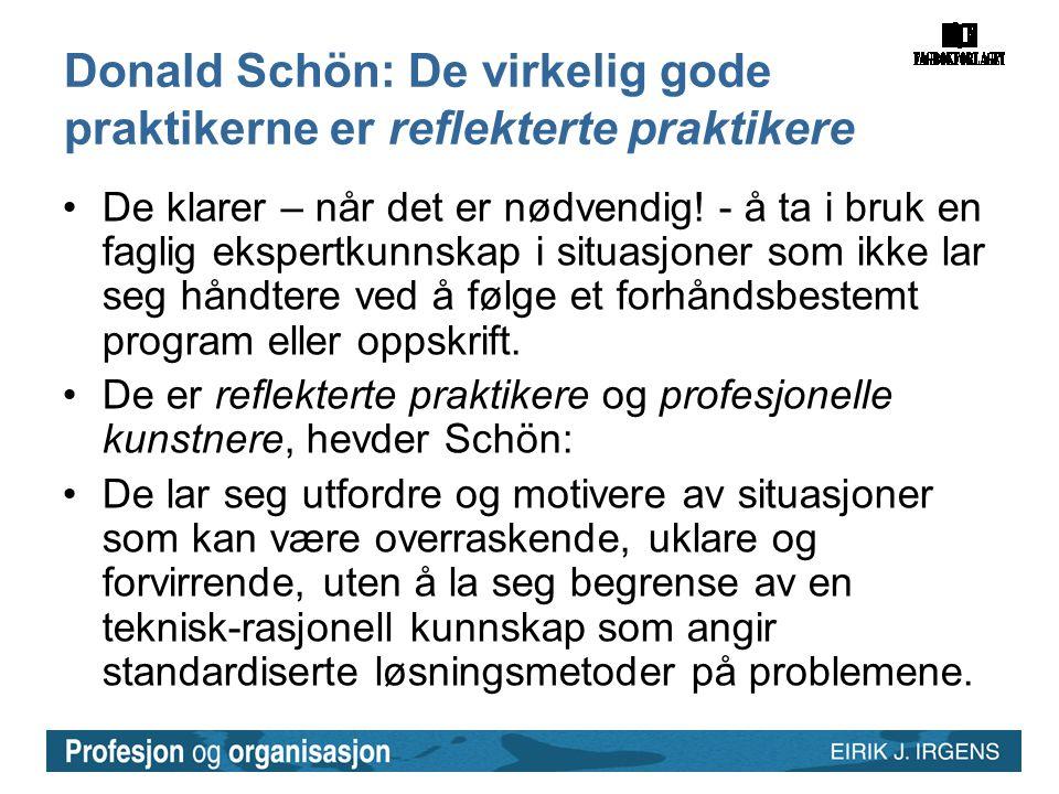 Donald Schön: De virkelig gode praktikerne er reflekterte praktikere