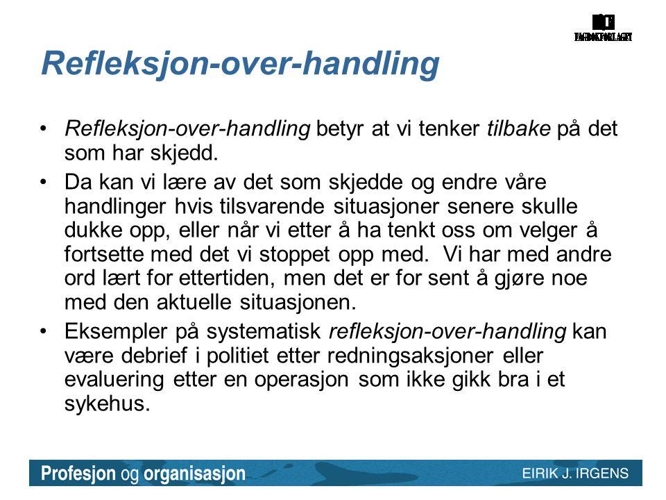 Refleksjon-over-handling