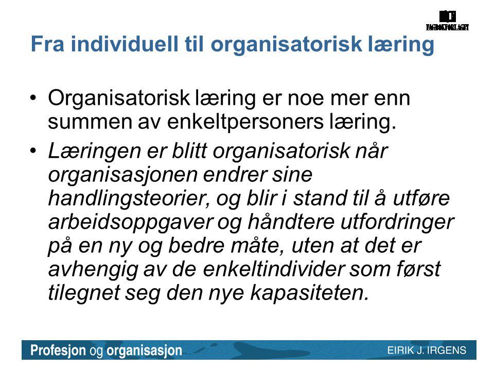 Fra individuell til organisatorisk læring