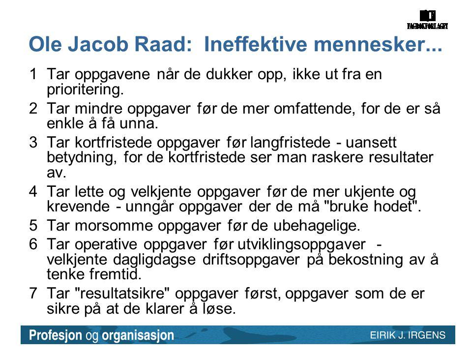 Ole Jacob Raad: Ineffektive mennesker...