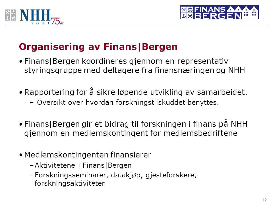 Organisering av Finans|Bergen
