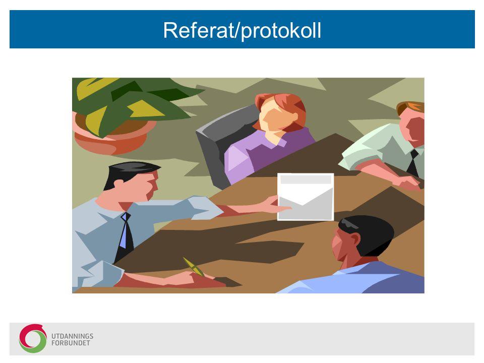 Referat/protokoll