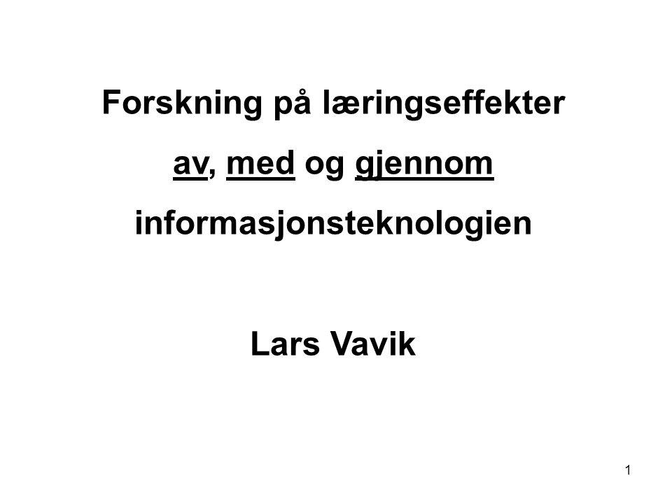 Forskning på læringseffekter informasjonsteknologien