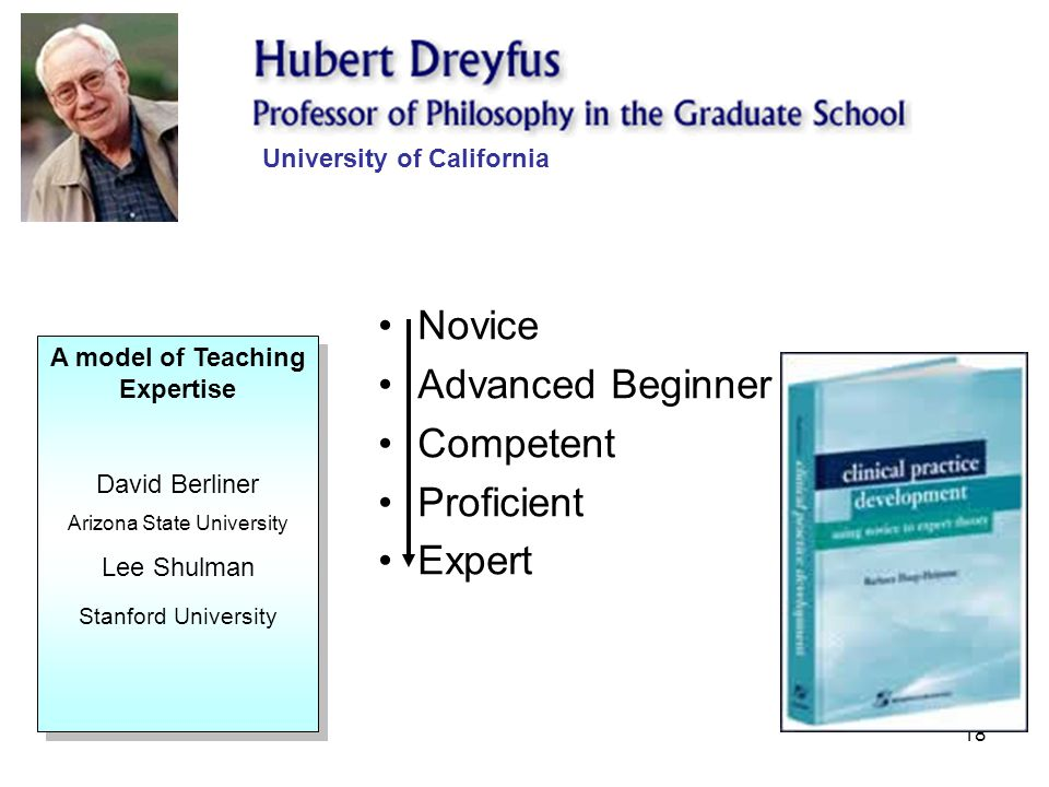 University of California A model of Teaching Expertise