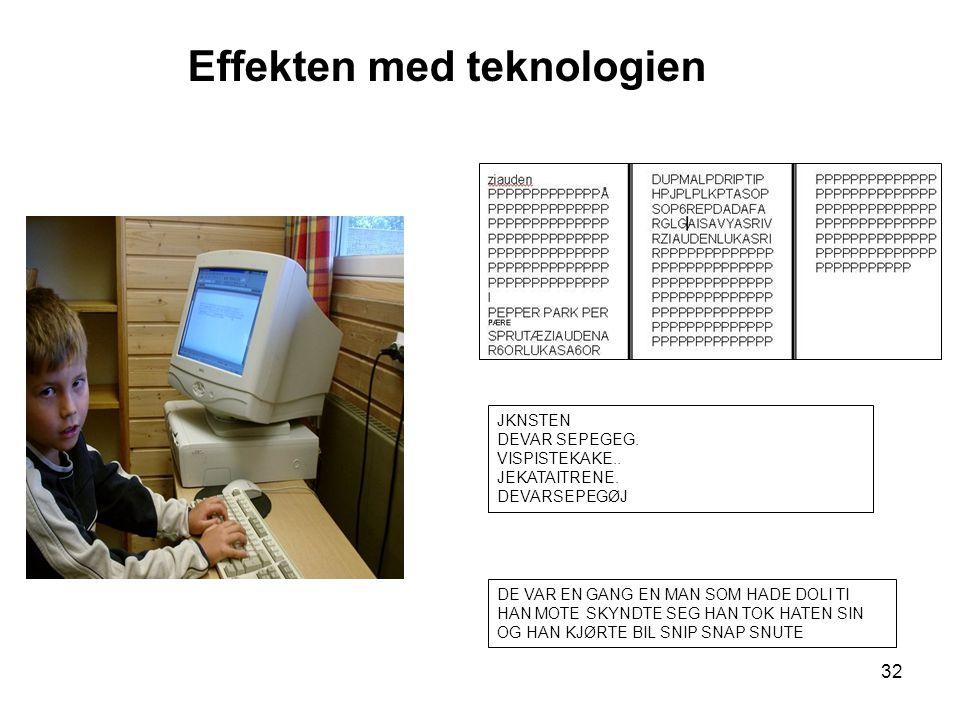 Effekten med teknologien