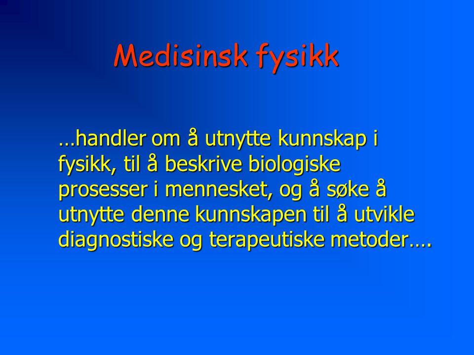Medisinsk fysikk
