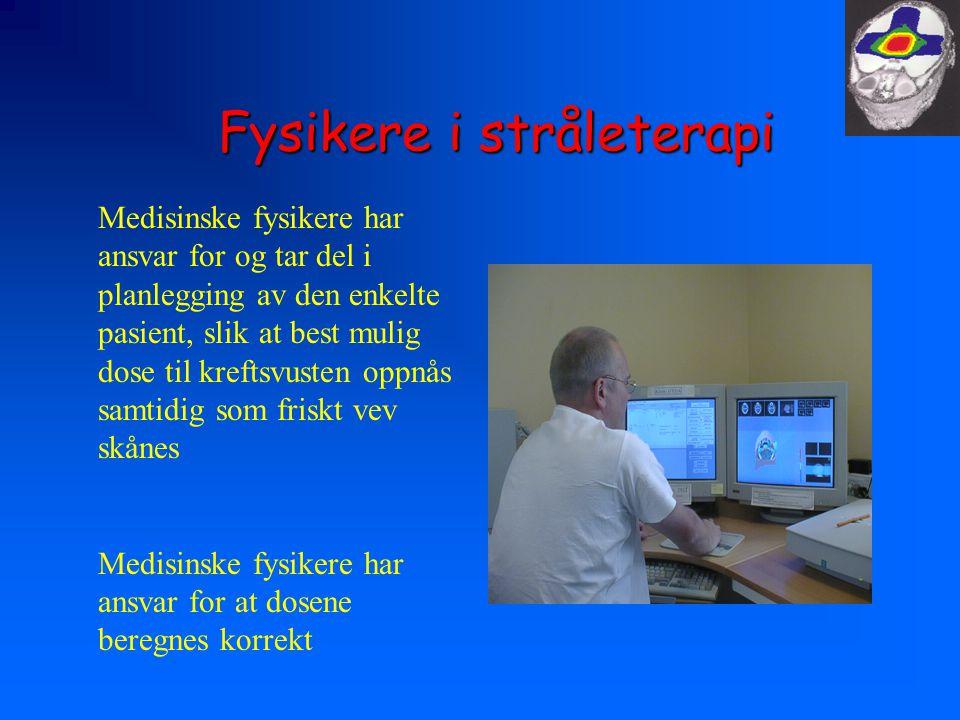Fysikere i stråleterapi