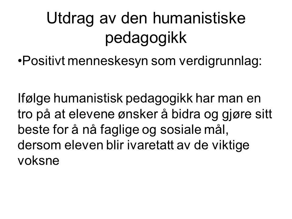 Utdrag av den humanistiske pedagogikk