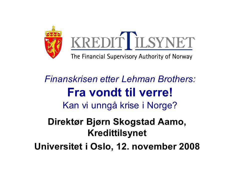 Direktør Bjørn Skogstad Aamo, Kredittilsynet