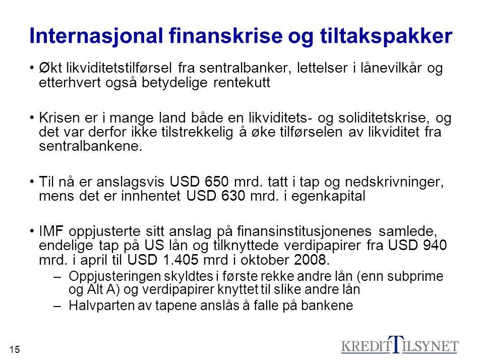 Internasjonal finanskrise og tiltakspakker