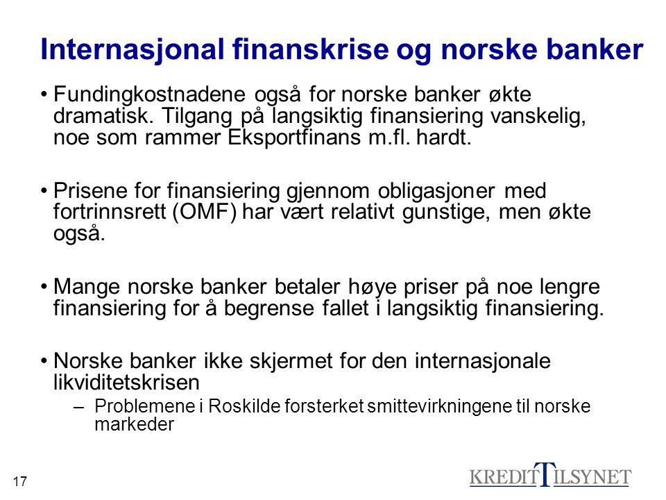 Internasjonal finanskrise og norske banker