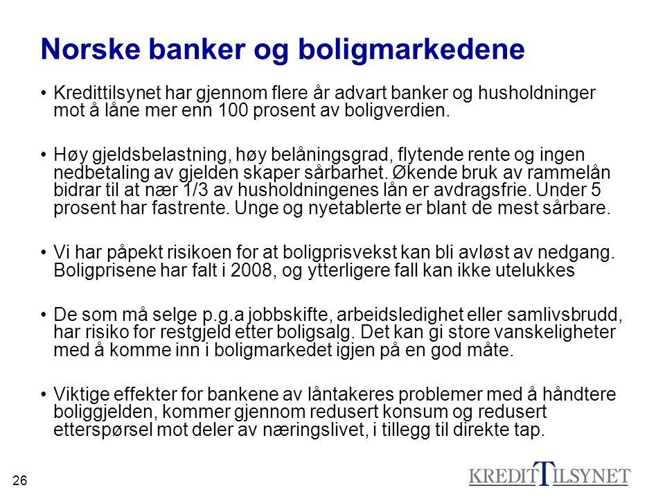Norske banker og boligmarkedene