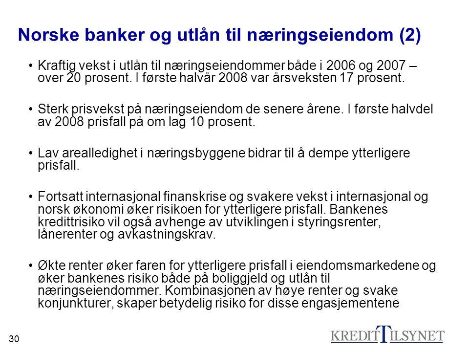 Norske banker og utlån til næringseiendom (2)