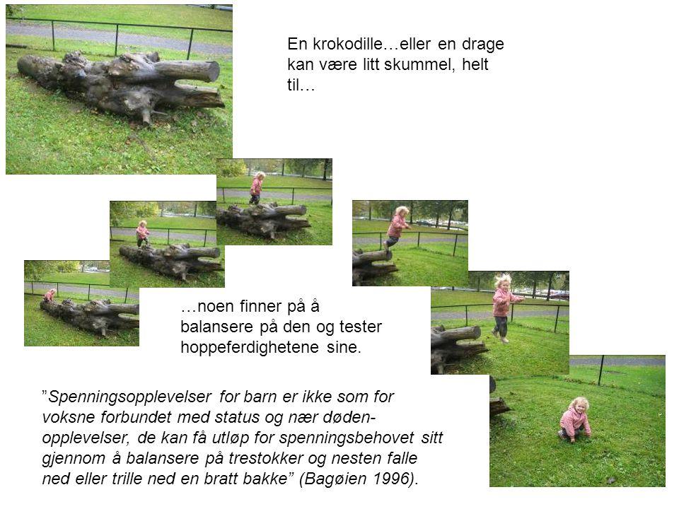 En krokodille…eller en drage kan være litt skummel, helt til…