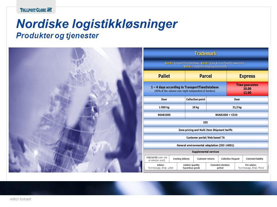 Nordiske logistikkløsninger Produkter og tjenester