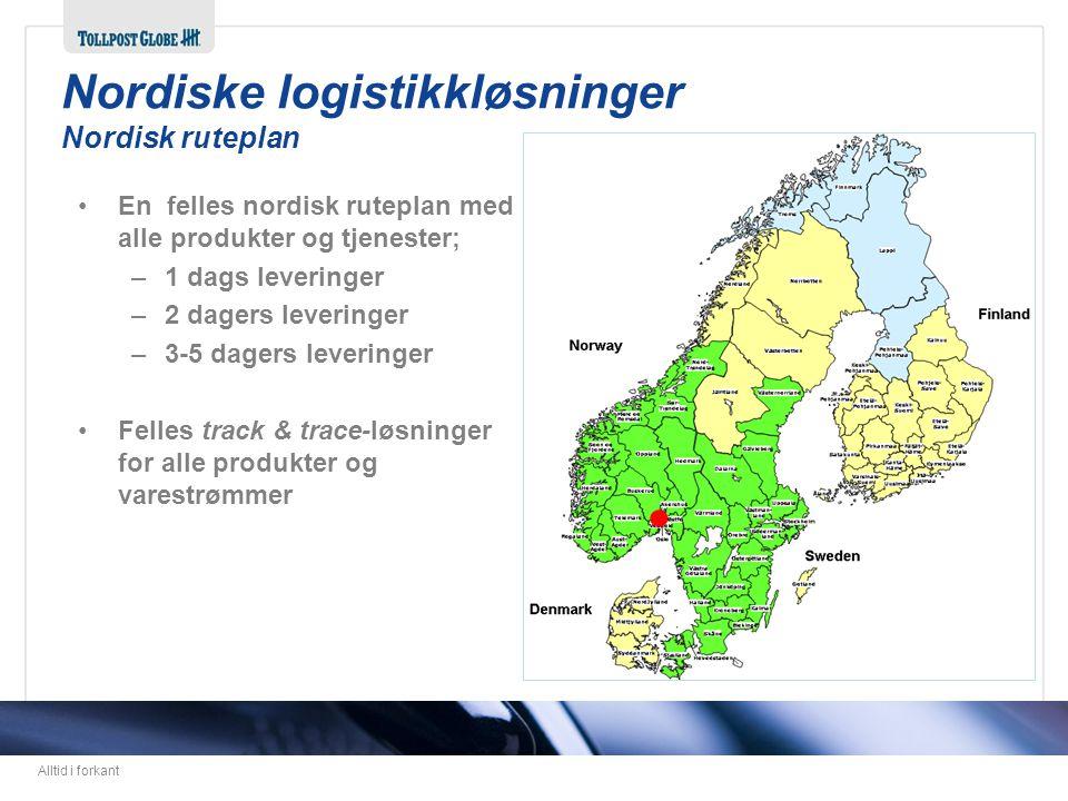 Nordiske logistikkløsninger Nordisk ruteplan