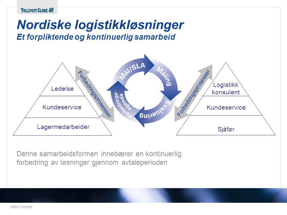 Nordiske logistikkløsninger Et forpliktende og kontinuerlig samarbeid
