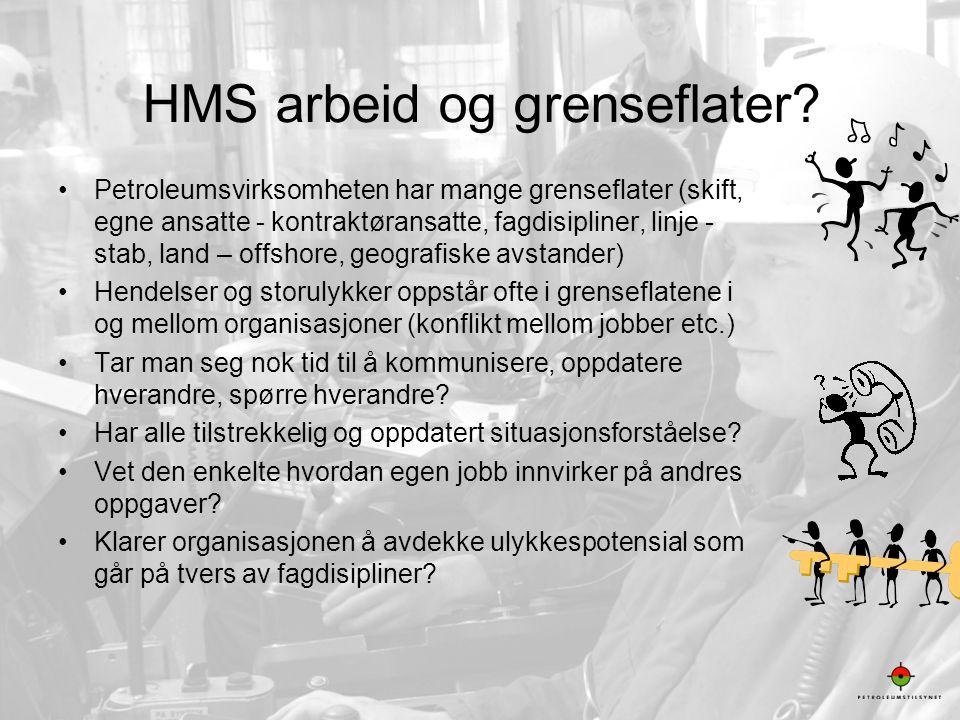HMS arbeid og grenseflater