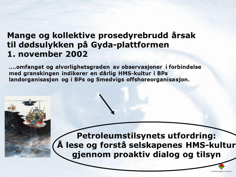 Petroleumstilsynets utfordring: