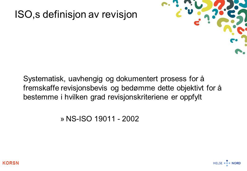ISO,s definisjon av revisjon
