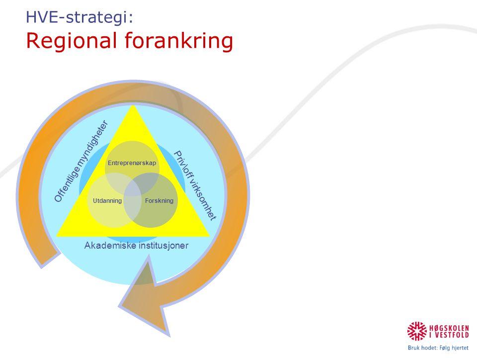 HVE-strategi: Regional forankring
